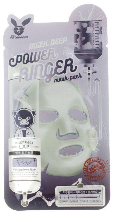 Elizavecca тканевая маска с молочными протеинами Milk Deep Power Ringer Mask Pack
