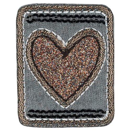 Купить Термоаппликация Сердце с пайетками 5, 8 x 5, 6 см, HKM Textil, Декоративные элементы