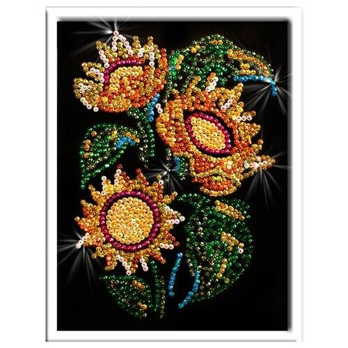 Купить Волшебная Мастерская Мозаика из пайеток Подсолнух 012, Картины из пайеток