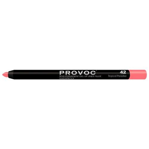 Provoc Гелевая подводка в карандаше для губ Semi-Permanent Gel Lip Liner 42 tropical paradiseКонтур для губ<br>