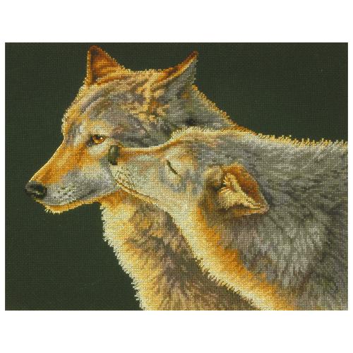 Dimensions Набор для вышивания Wolf Kiss (Поцелуй волка) 35 х 27 см (70-35283) dimensions набор для вышивания морские сокровища 20 х 10 см 65035