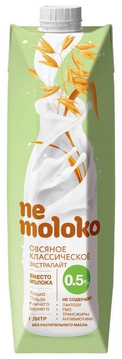 Овсяный напиток nemoloko Классическое экстралайт 0.5%, 1 л