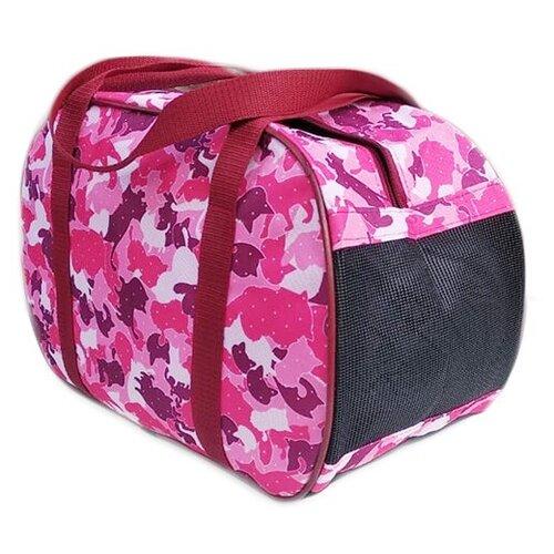 Сумка-переноска для кошек и собак Теремок СП-4 40х21х27 см розовый