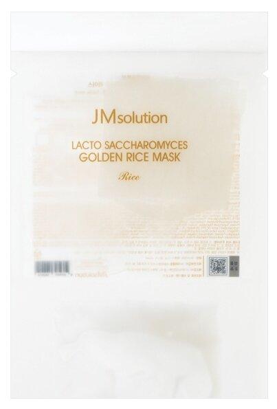 JM Solution Рисовая маска с золотом и лактобактериями Lacto Saccharomyces Golden Rice Mask Rice