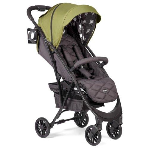 Прогулочная коляска Happy Baby Eleganza V2 dark green, цвет шасси: черный
