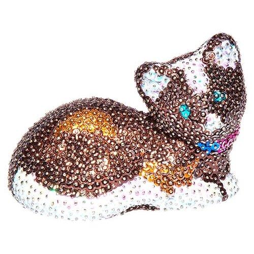 Купить Волшебная Мастерская Мозаика из пайеток 3D Кошка 3D-01, Картины из пайеток