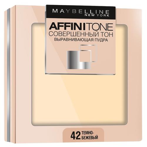 Maybelline New York Affinitone пудра компактная Совершенный тон выравнивающая и матирующая 42 темно-бежевый выравнивающая компактная пудра совершенный тон affinitone 9г 03 светло бежевый