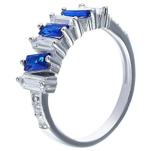 JV Кольцо с фианитами из серебра R-VA0082-KO-001-WG, размер 17 jv кольцо с фианитами из серебра r25193 r 001 wg размер 17
