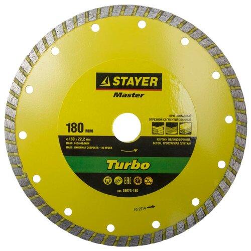 Диск алмазный отрезной STAYER Master 36673-180, 180 мм 1 шт.