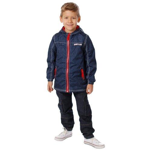 Ветровка V-Baby 56-001 размер 128, синийКуртки и пуховики<br>