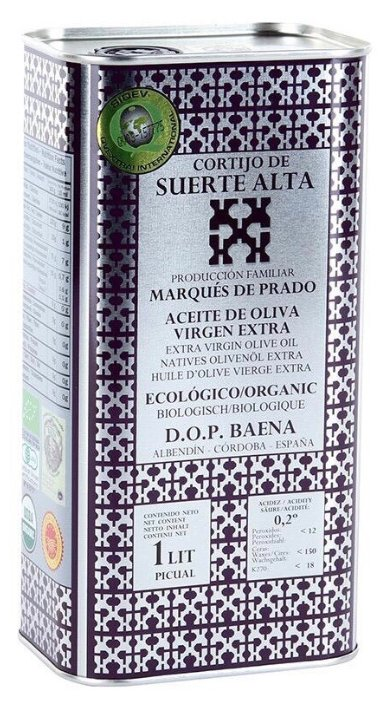 CORTIJO DE SUERTE ALTA Масло оливковое Пикуаль Extra Virgin, жестяная банка