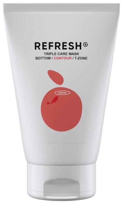 REFRESH Розовая минерально-витаминная маска для области скул Triple Care Mask Contour
