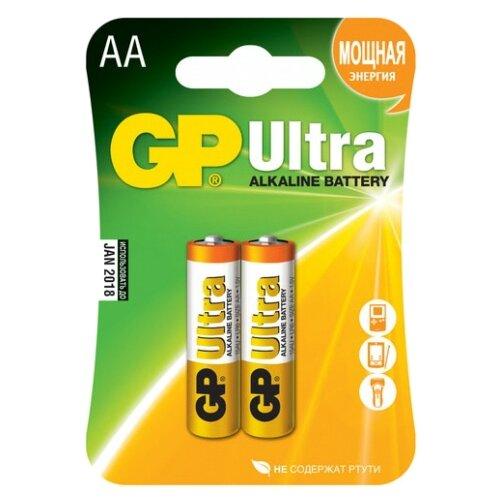 Фото - Батарейка GP Ultra Alkaline AA, 2 шт. батарейка smartbuy aa lr6 ultra alkaline 40 шт