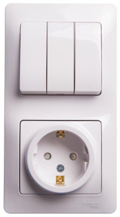 Блок комбинированный Schneider Electric GLOSSA GSL000178,10А, белый