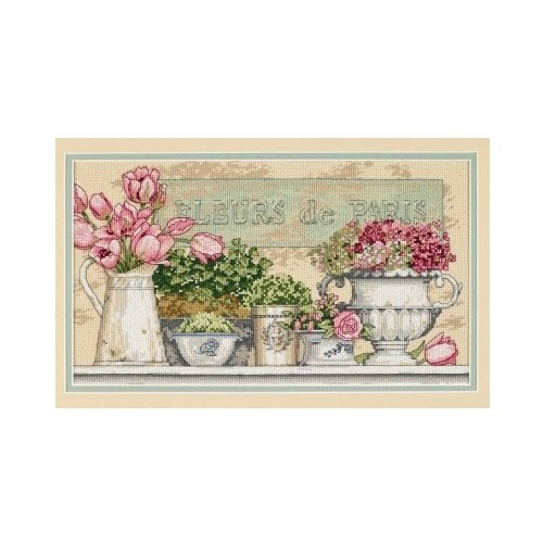 Dimensions Набор для вышивания Flowers of Paris (Цветы Парижа) 36 х 20 см (35204) dimensions набор для вышивания морские сокровища 20 х 10 см 65035