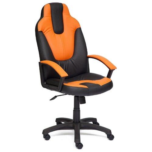 Компьютерное кресло TetChair Нео 2, обивка: искусственная кожа, цвет: черный/оранжевый компьютерное кресло tetchair барон обивка искусственная кожа цвет бежевый