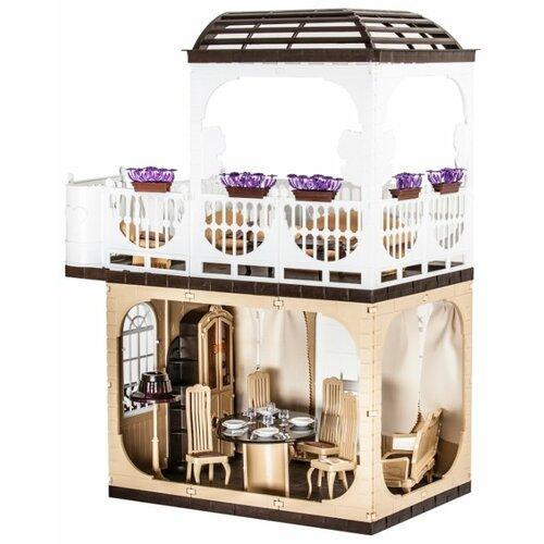 Фото - ОГОНЁК Дом для кукол Коллекция С-1293, бежевый/белый огонёк дачный дом коллекция с 1360