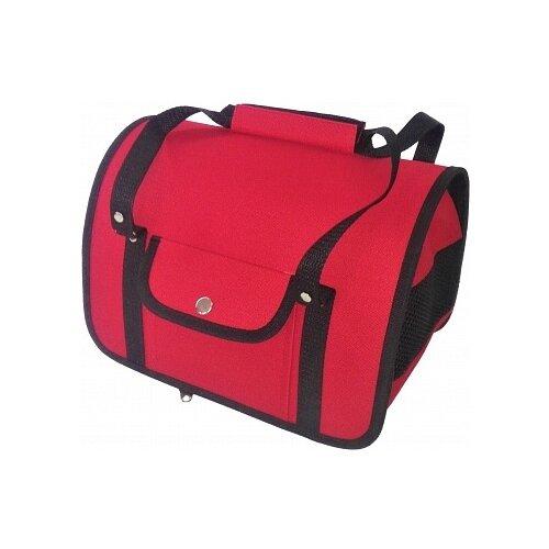 Переноска-сумка для кошек и собак LOORI Z8425 40х25х27 см красныйТранспортировка, переноски<br>