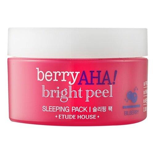 Etude House маска ночная отшелушивающая Berry Aha Bright Peel Sleeping Pack, 100 мл маска для лица ночная с коллагеном moistfull collagen sleeping pack 100 мл etude house collagen