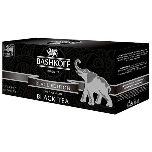 Чай черный Bashkoff Black edition в пакетиках, 25 шт.Чай<br>