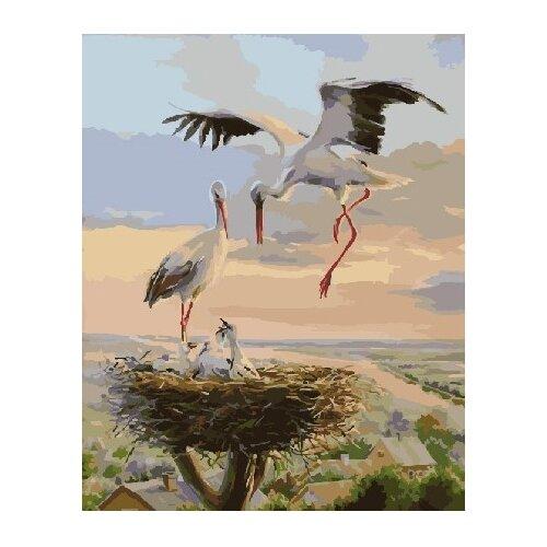 ВанГогВоМне Картина по номерам Гнездо цапли, 40х50 см (ZX 22241) картина по номерам вангогвомне рыцарский замок
