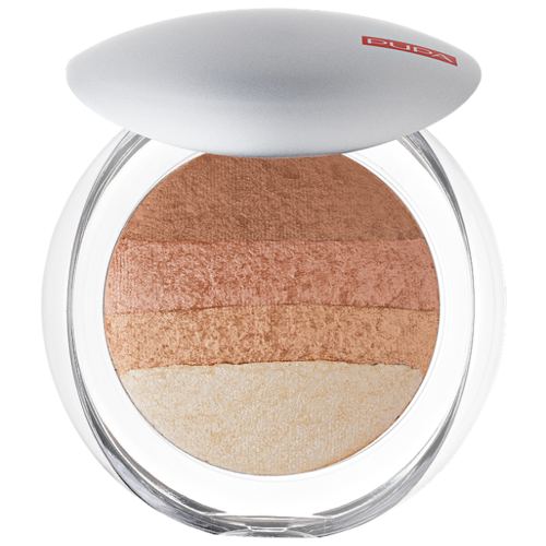 Pupa Luminys Румяна-пудра-иллюминатор Baked All Over Illuminating Blush-Powder 05 gold stripes pupa bronzing and contouring all in one powder palette