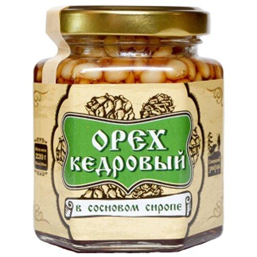 Варенье Сибирский знахарь орех кедровый в сосновом сиропе, банка 220 г