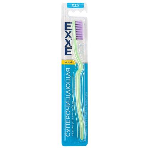 Зубная щетка EXXE classic Суперочищающая, средняя, зеленый