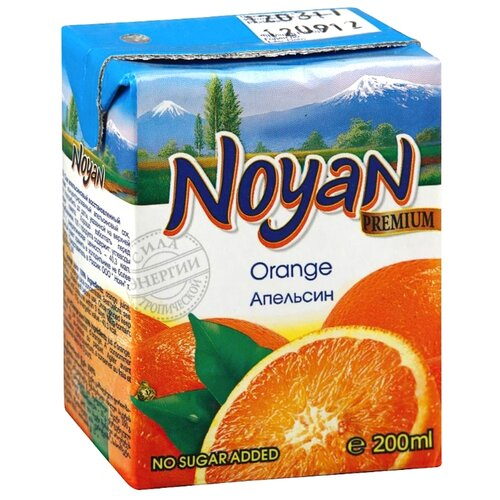 Сок Noyan Апельсин, без сахара, 0.2 л noyan яблочный сок premium 200 мл