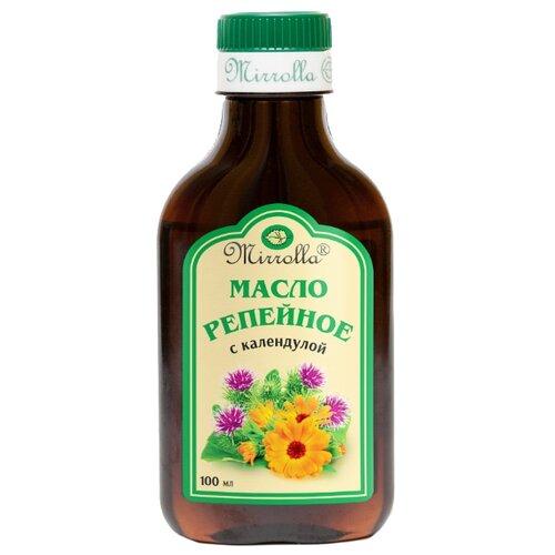 Фото - Mirrolla Репейное масло с календулой, 100 мл oleos масло репейное с экстрактом красного перца 100 мл oleos масло репейное