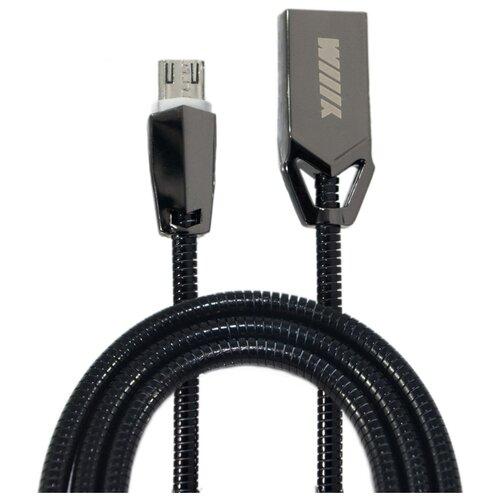 Кабель WIIIX USB - microUSB (CB950-2А-UMU-Z-10) 1 м черный