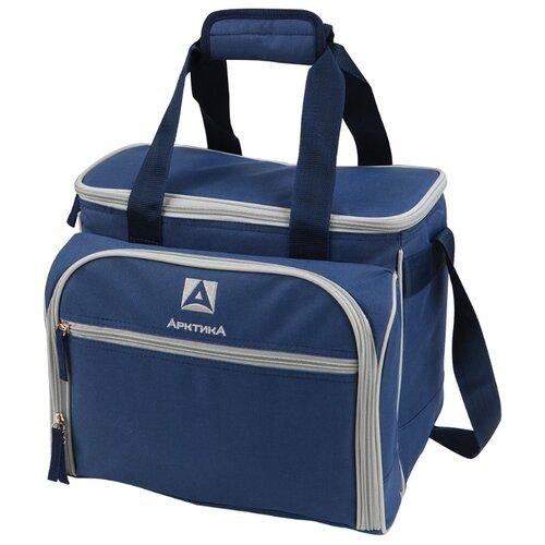 Арктика Сумка-холодильник с набором посуды, 4 персоны синий 13.5 л сумка холодильник арктика 13 5 л синяя 4100 4