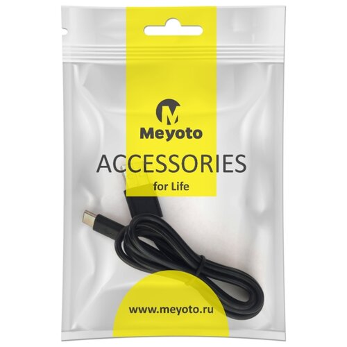 Кабель Meyoto USB - USB Type-C (MECATC1-0BL01) 1 м черный