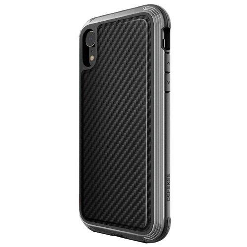 Чехол X-Doria Defense Lux для Apple iPhone XR черный карбон