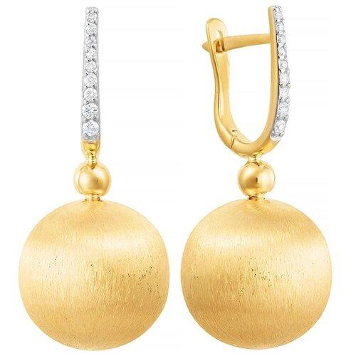 цена на JV Серьги с 18 бриллиантами из жёлтого золота 23330903-YGDW-SR-YG