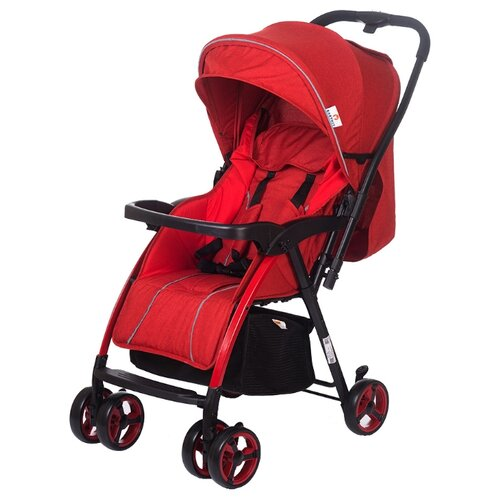 Прогулочная коляска Babyhit Floret RED LINEN, цвет шасси: черный