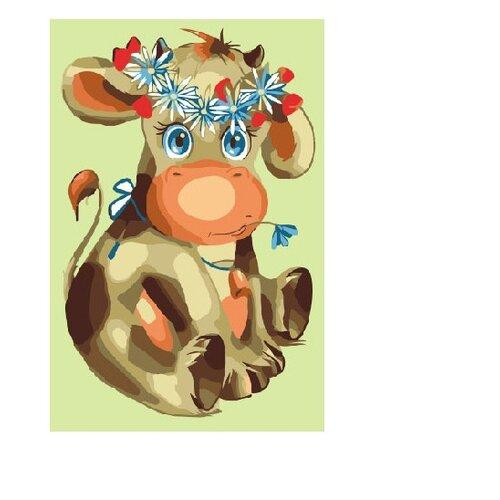 Molly Картина по номерам Буренка Василиса 20х30 см (KH0276) molly картина по номерам тигр 40 50 см