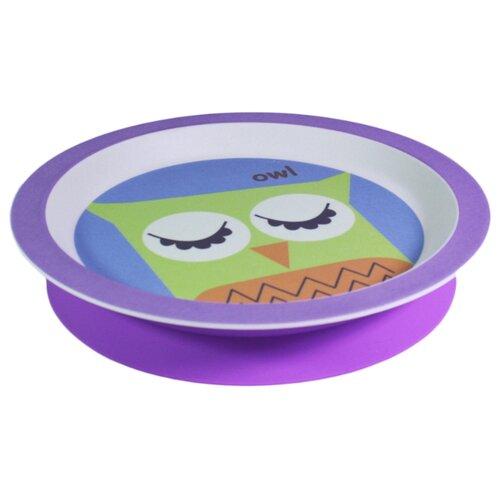 Фото - Тарелка Fissman плоская с присоской Совенок (9468) фиолетовый fissman тарелка плоская 28 см