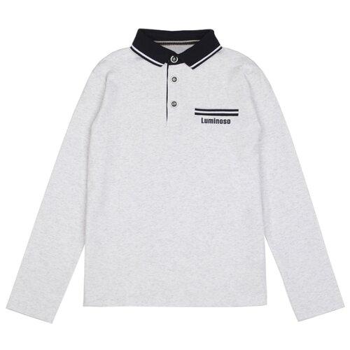 Купить Поло Luminoso размер 158, светло-серый меланж, Футболки и майки