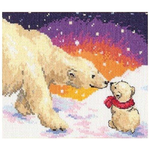 Купить 0-26 Набор для вышивания АЛИСА 'Белые медведи' 20*16см, Алиса, Наборы для вышивания