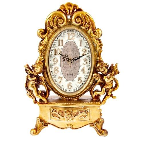 Часы каминные Русские подарки Рококо 59105 золотистый