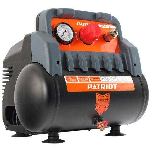 Компрессор безмасляный PATRIOT WO 6-180, 6 л, 1.1 кВт