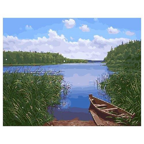 Фото - ВанГогВоМне Картина по номерам Тихое озеро, 40х50 см (ZX 21783) картина по номерам 30 x 40 см krym fn11