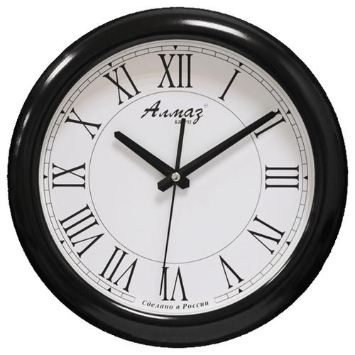 Часы настенные кварцевые Алмаз H03 белый/черный часы настенные кварцевые алмаз h01 белый черный