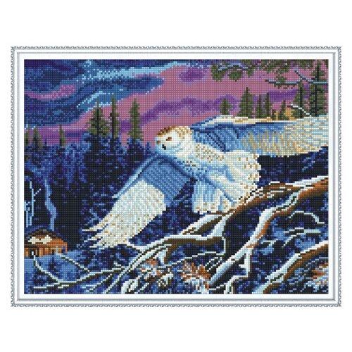 Купить Molly Набор алмазной вышивки Белая сова (KM0125) 50х40 см, Алмазная вышивка