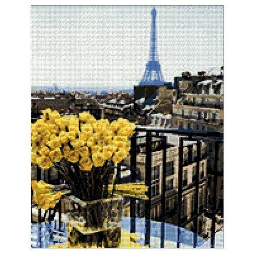 Купить Гранни Набор алмазной вышивки Париж. Желтые розы (ag611) 38x48 см, Алмазная вышивка