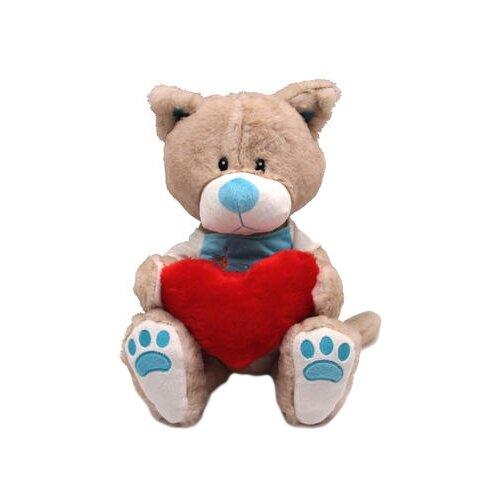 Мягкая игрушка Magic Bear Toys Кот Панайот с сердцем 30 см magic bear toys мягкая игрушка мяч мягкий диаметр 7 см