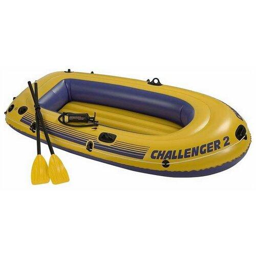 Надувная лодка Intex Challenger-2 (68367) желтый intex pinwheel 229х56 см желтый