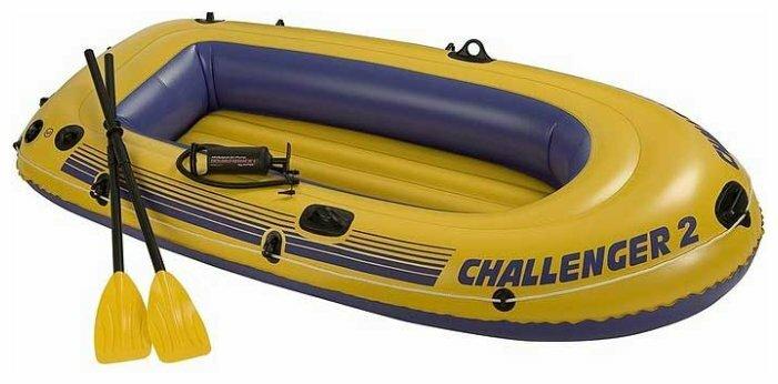 Надувная лодка Intex Challenger-2 (68367) желтый