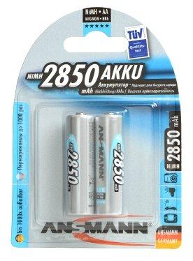Аккумулятор Ni-Mh 2850 мА·ч ANSMANN AA 2850 AKKU